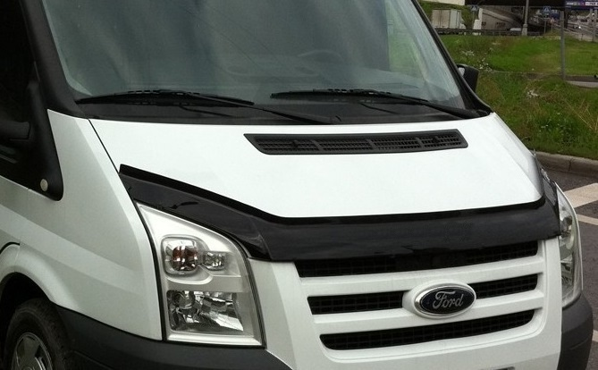ford transit hood bonnet deflectors ford transit tuning. Black Bedroom Furniture Sets. Home Design Ideas