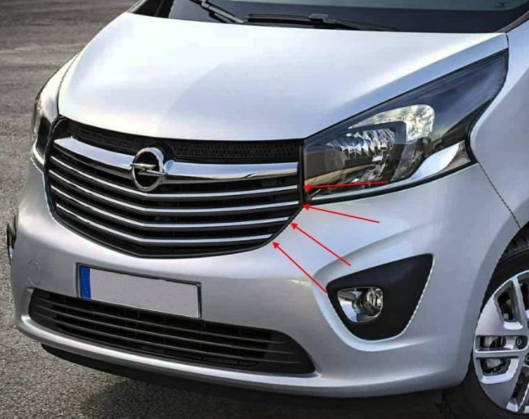 opel vivaro front grille trim 2014 tuning parts for vans. Black Bedroom Furniture Sets. Home Design Ideas